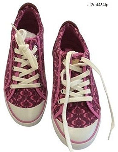 Coach Barrett II Signature C Shoes Sneakers Pink Mulberry Berry Size 5 Tennis #Coach #shoes #sneakers #classicC