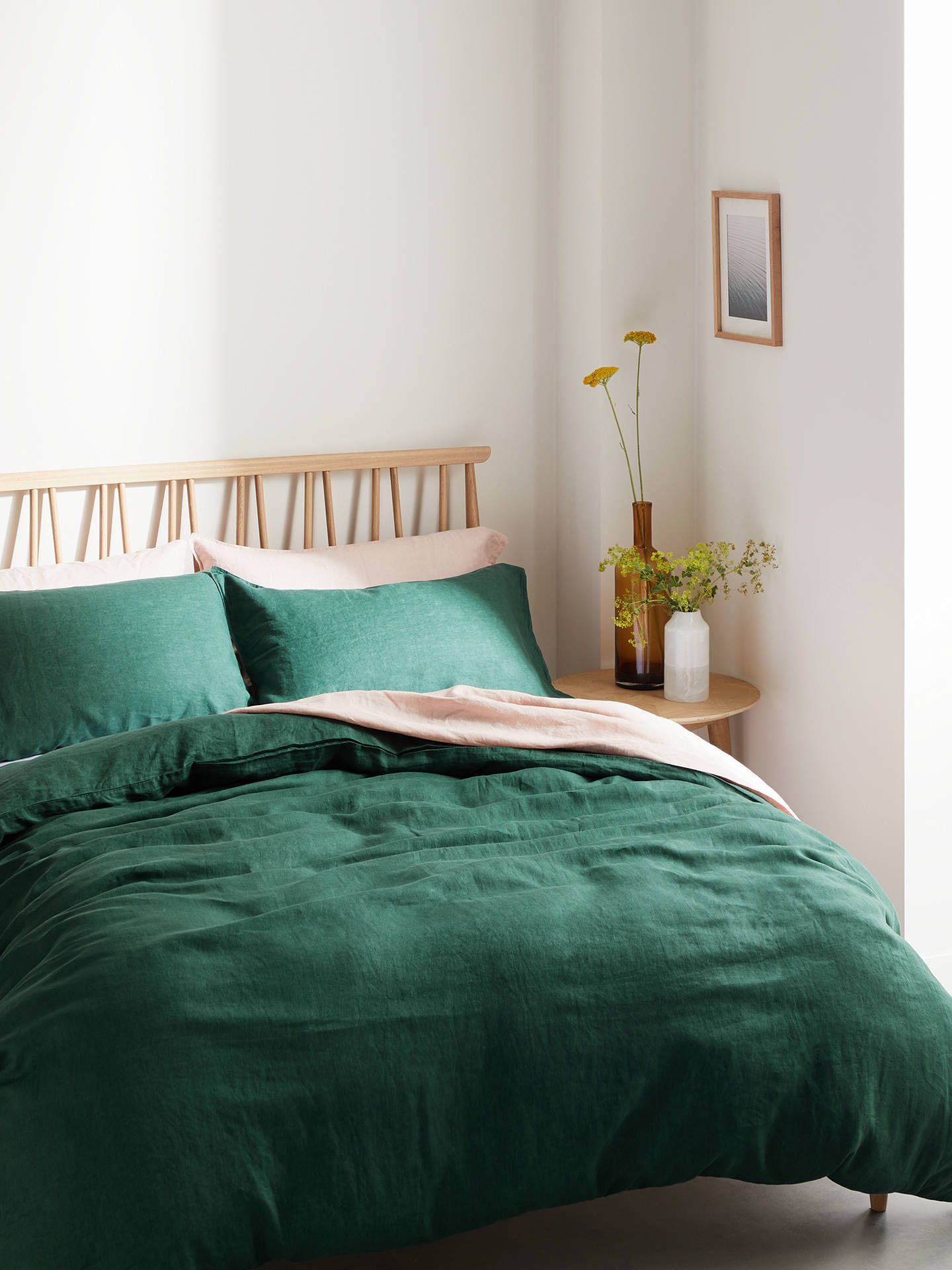John Lewis Partners 100 Linen Bedding Yellow In 2020 Green Comforter Bedroom Green Comforter Bedroom Color Schemes