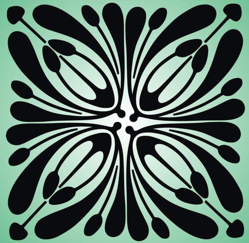9 Awesome Simple Art Nouveau Patterns Images