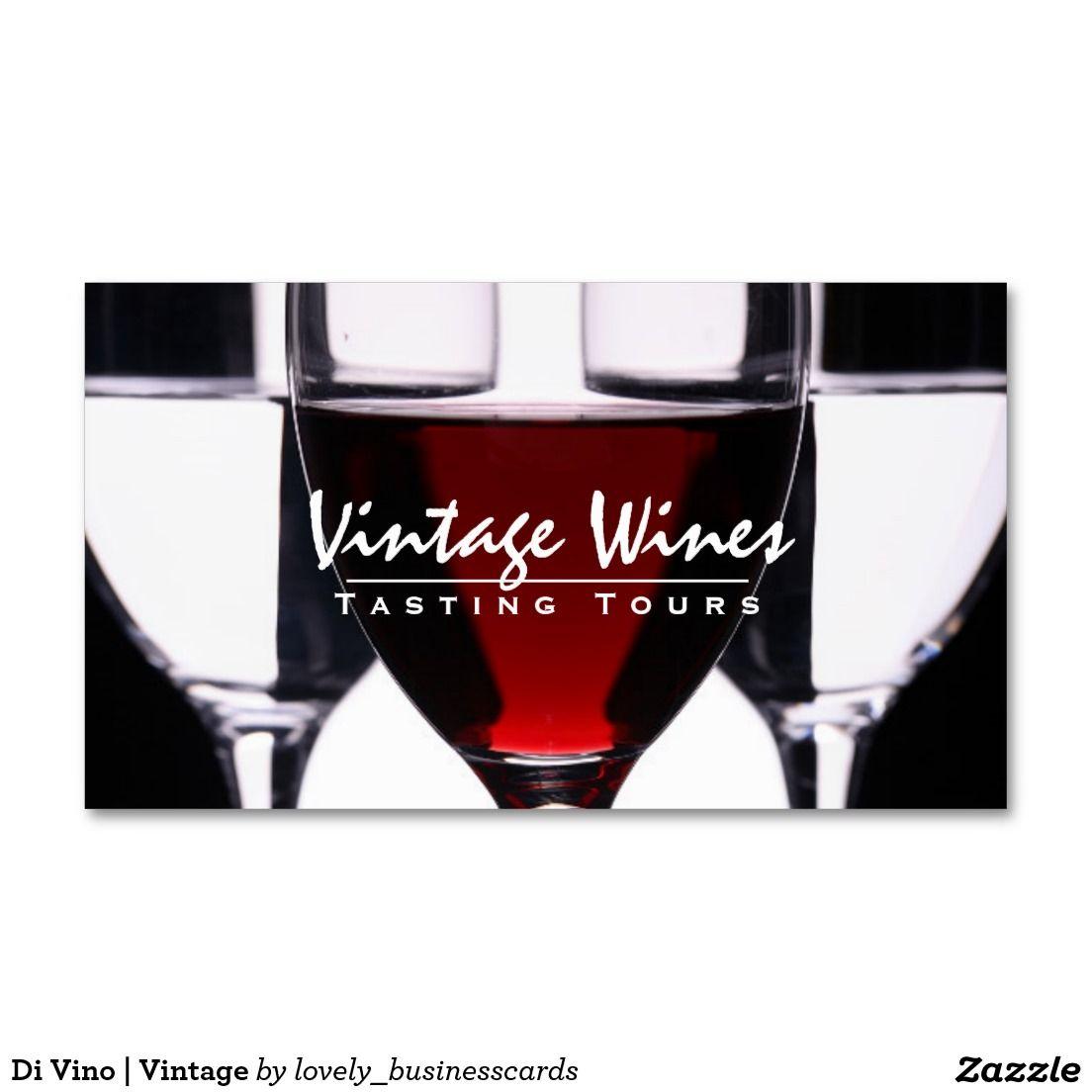 Di Vino Vintage Standard Business Card Printing Business Cards Wine Wine Expert