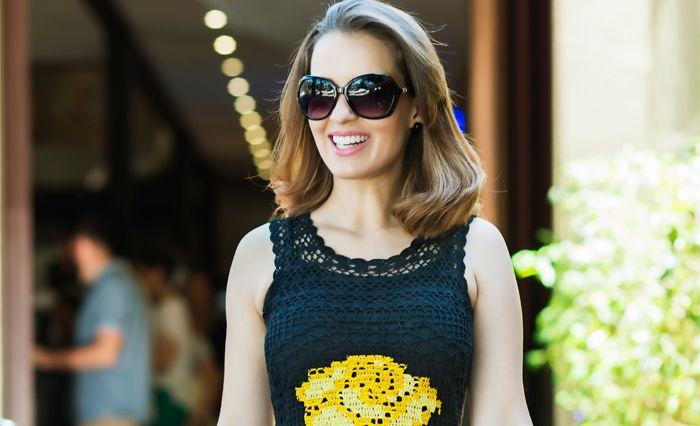 e7b7696cd Blusa de Crochê Preta - Linha Camila | Receitas / Pattern | Blusas ...