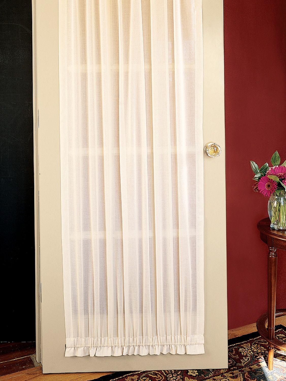 Cotton Voile Semi Sheer Rod Pocket Door Panel Door Curtains Panel Doors Curtain Styles