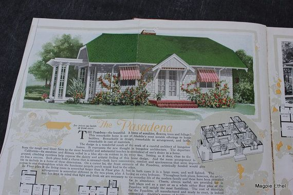 Vintage Aladdin House Plan Book ReadiCut Built In By