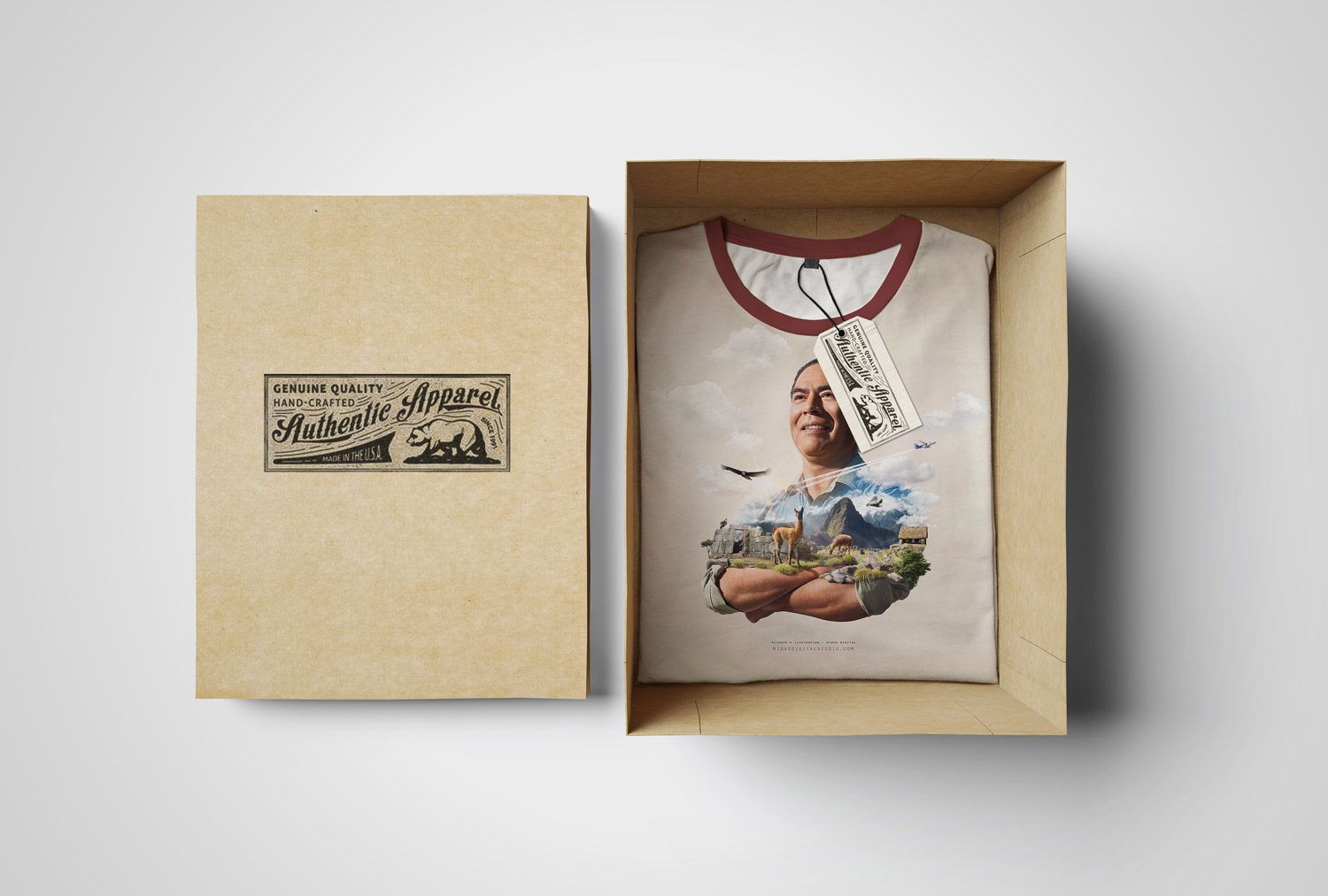 Download A Folded T Shirt In A Box Mockup Free Mockup Tshirt Mockup Design Freebie Free Psd Mockups Templates