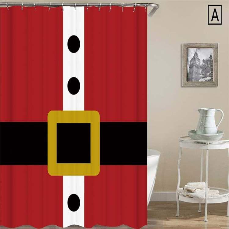 シャワーカーテン バスカーテン 防水防カビ プリント 浴室用 リング付