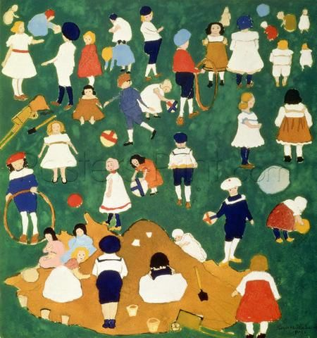 Children, 1908 Giclee Print Poster by Kazimir Malevich