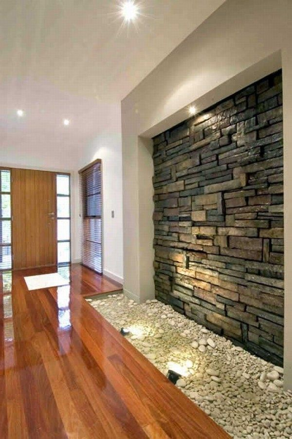 Modern Interior Room Design Model With Natural Stone Stone Wall