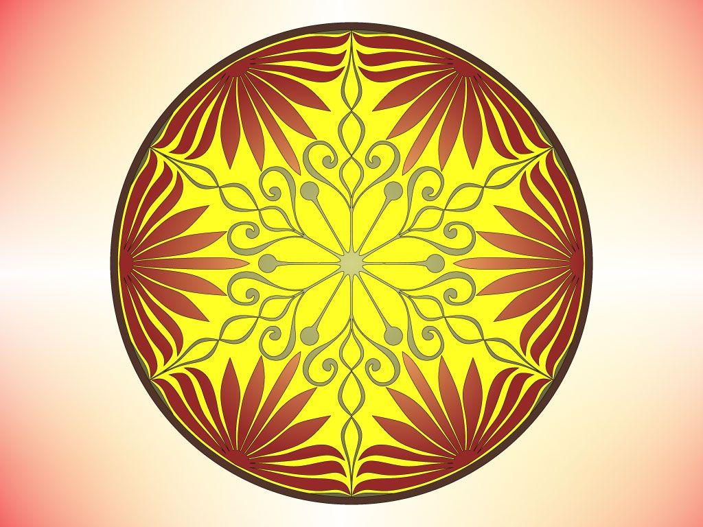 Decorative Symmetrical Circle Design Circle Design Pattern Design Circle