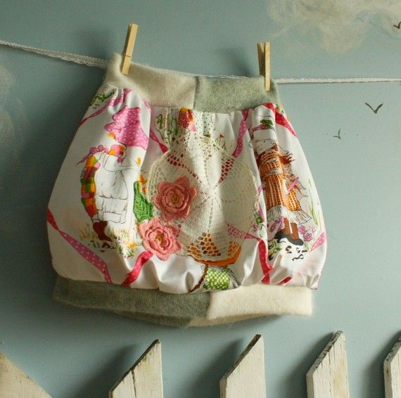 Upcycled vintage Holly Hobbie bubble skirt. $32