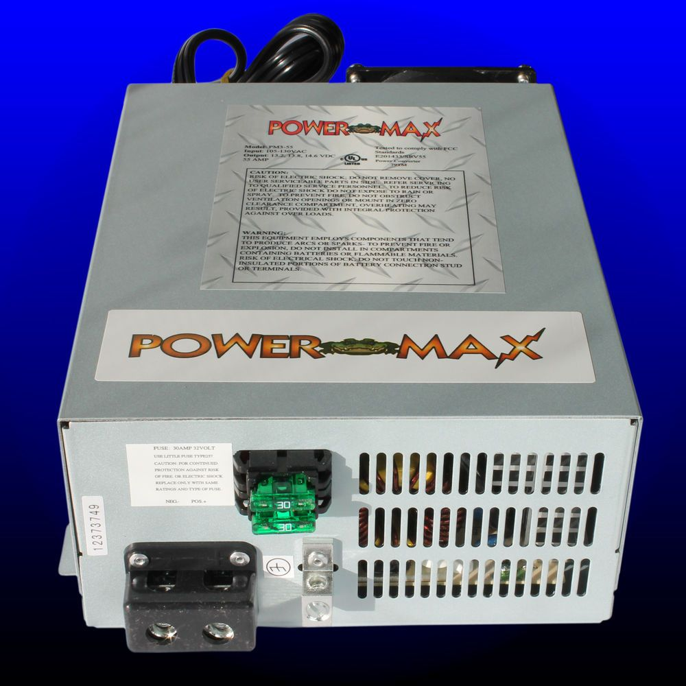 Powermax Rv Converter Battery Charger Pm3 55 Amp 120 V Ac To 12 Volt Dc Supply Power Converters Converter Power Supply