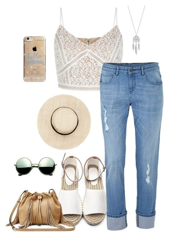 """Summer"" by its-leila ❤ liked on Polyvore featuring Agent 18, New Look, Diane Von Furstenberg, Revo and Lucky Brand"