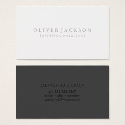 Simple professional black white business card reheart Gallery