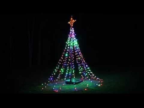 Flagpole Led Christmas Tree Kit For 20 Flagpole With 960 Led Count