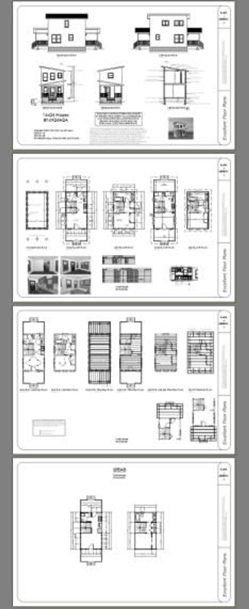 14x24 House 1Bedroom 1.5Bath 597 sq ft PDF Floor Etsy
