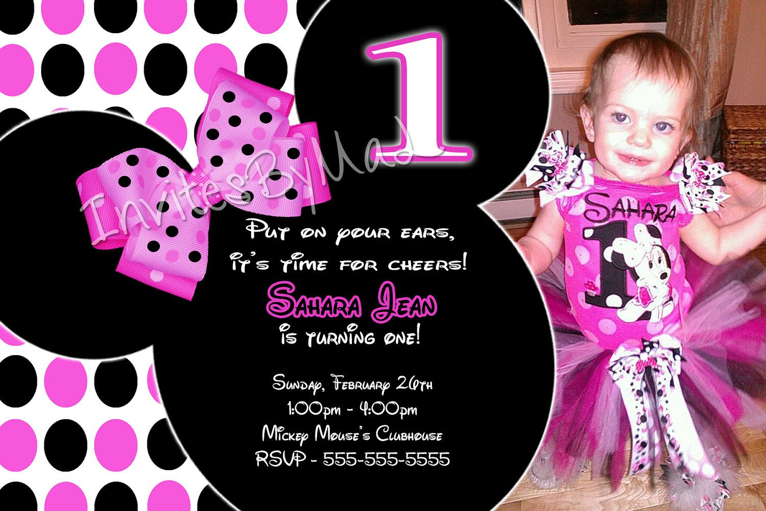 Cool free template personalized minnie mouse first birthday cool free template personalized minnie mouse first birthday invitations filmwisefo