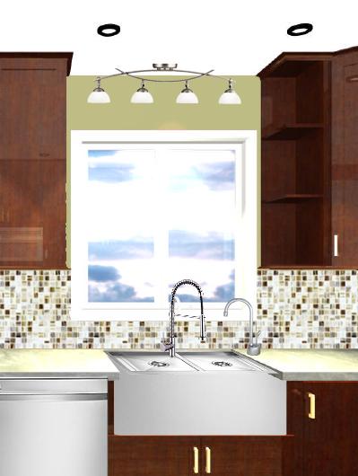 lighting above sink