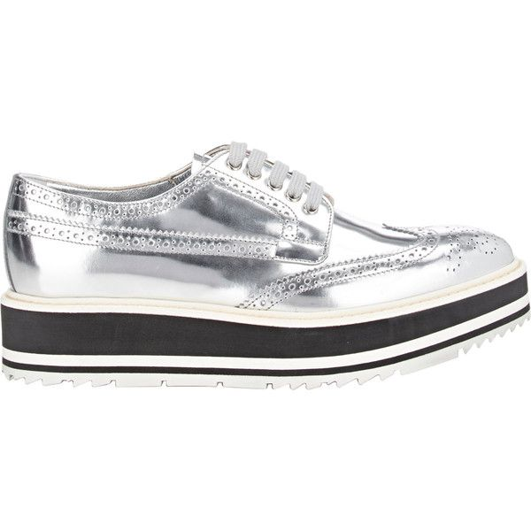Sneakers - Lace Up Sneaker Leather Silver - silver - Sneakers for ladies Prada jxVYfd