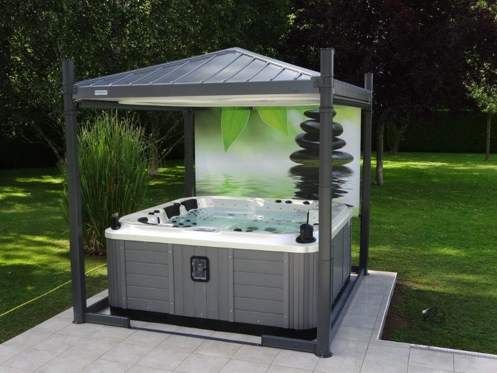 spa abri mon spa dans le jardin in 2019 spa jacuzzi. Black Bedroom Furniture Sets. Home Design Ideas