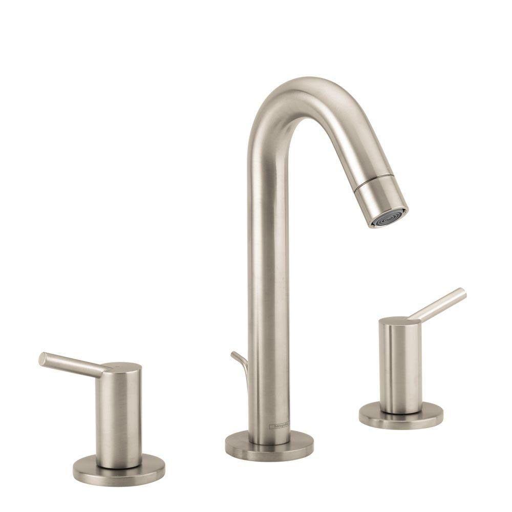 HansGrohe Talis S 8 Inch Widespread 2 Handle Bathroom Faucet In Brushed  Nickel 258017