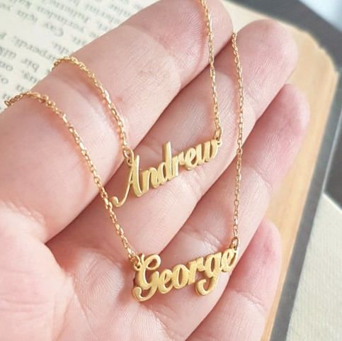 Two Names Necklace, Double, Three Kids Names, Personalized Necklace