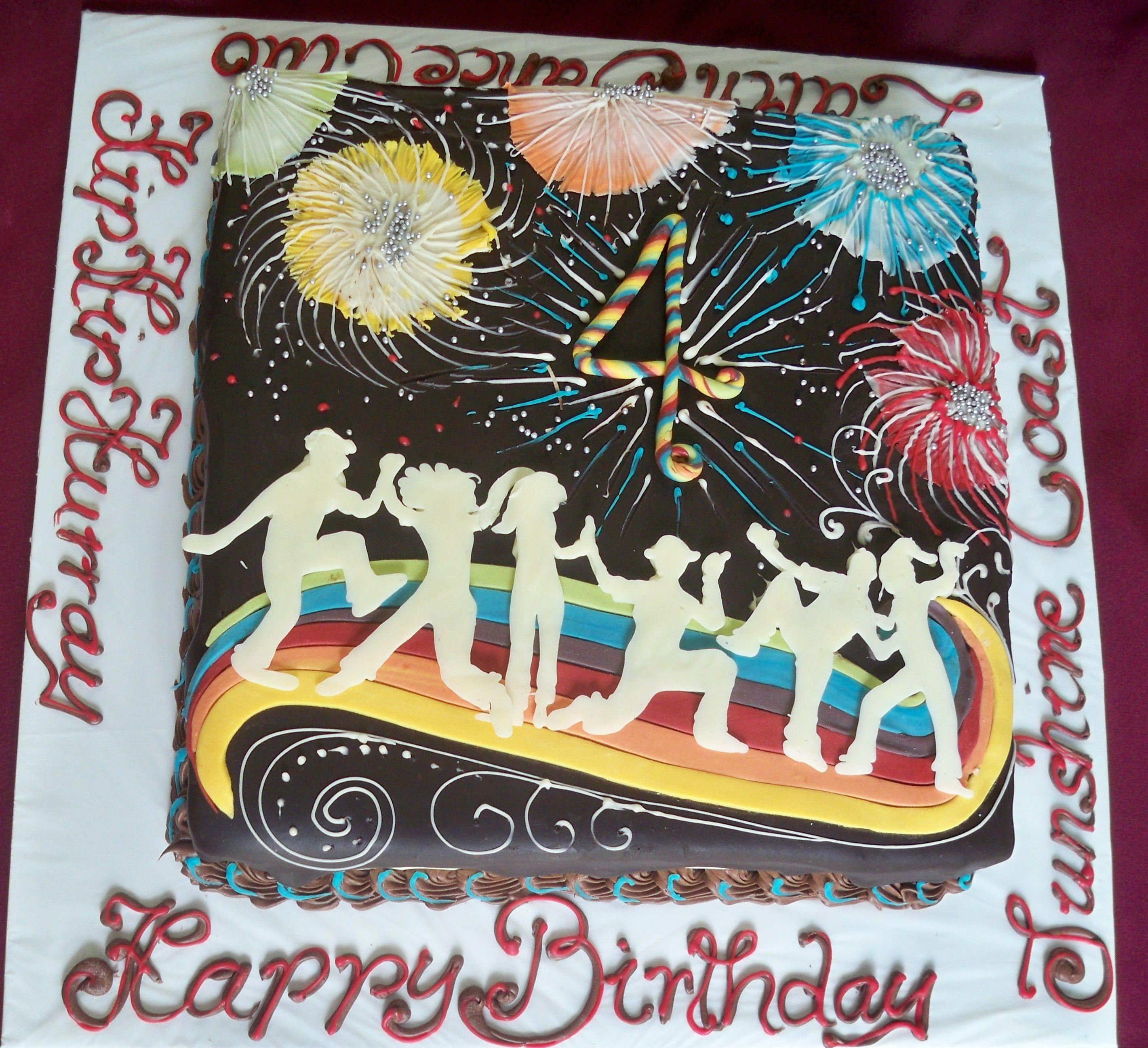 fireworks dancers party birthday cake httpwwwelisabethscakes