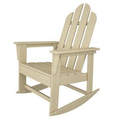 Polywood Long Island Plastic Resin Rocking Chair Adirondack