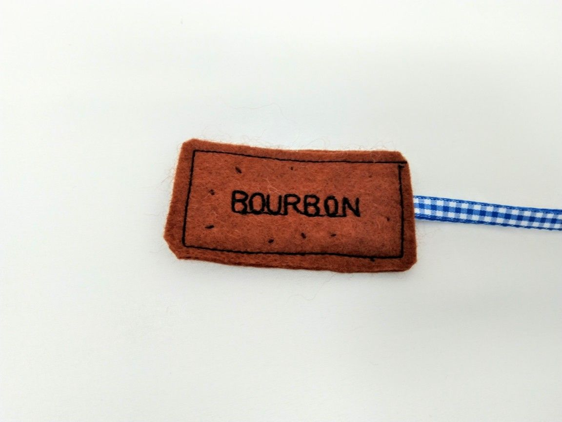 Bourbon biscuit bookmark ideal for someone who likes to