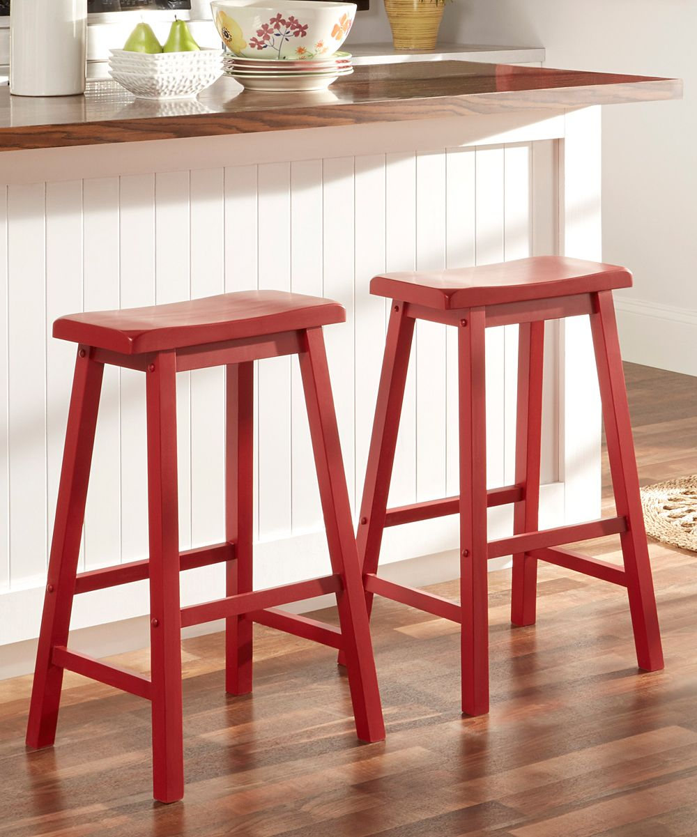 Marvelous 29 Red Erickson Bar Saddle Stool Set Of 2 Products List Lamtechconsult Wood Chair Design Ideas Lamtechconsultcom