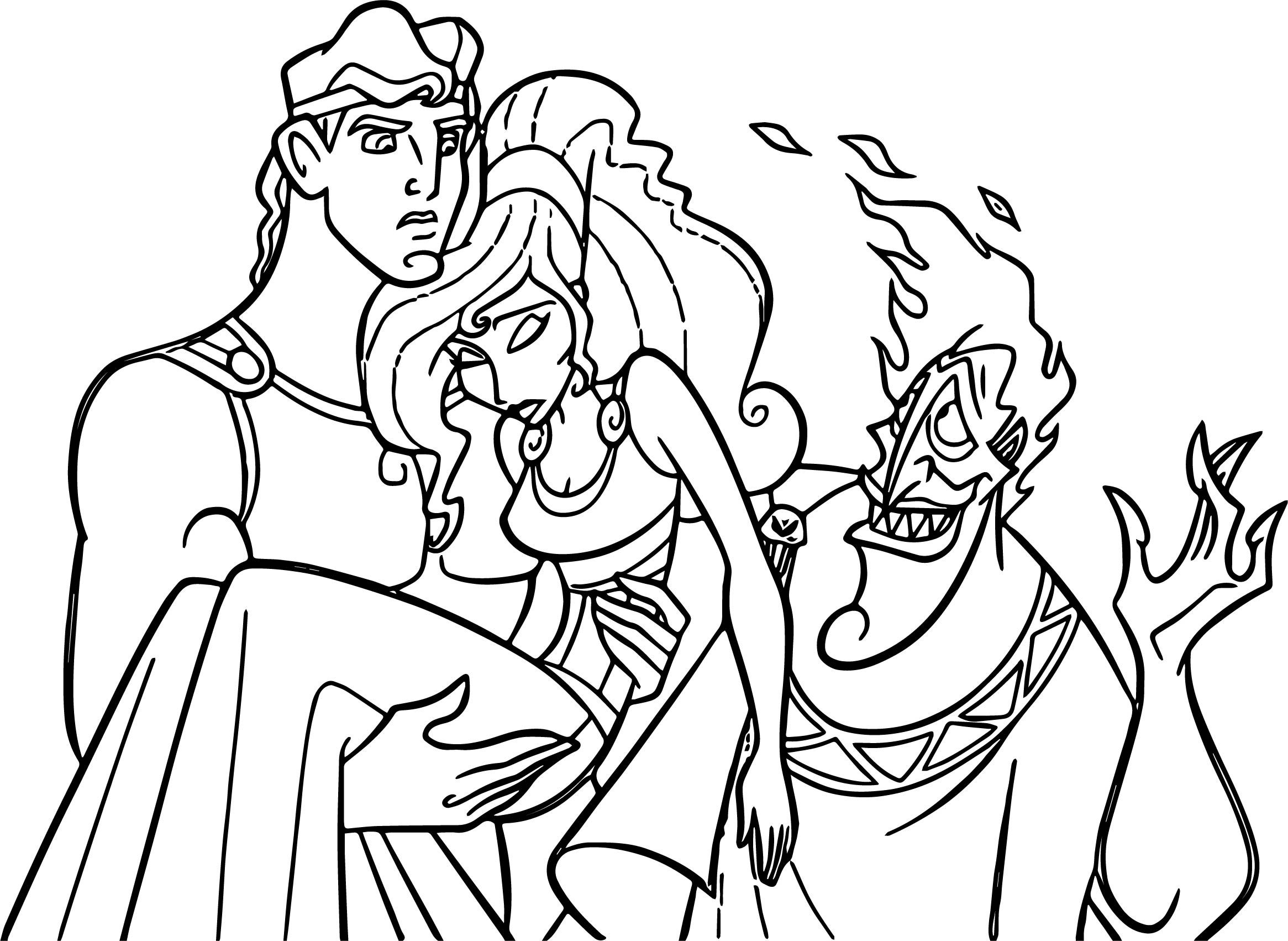 Hercules Meg Hades Coloring Pages Coloring Pages Staff Magic Animal Drawings