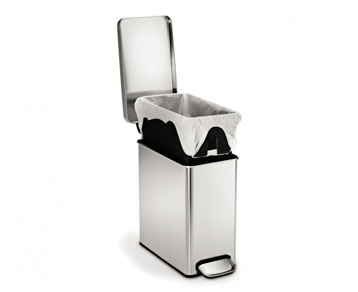 Simplehuman 10l Profile Stainless Steel Step Trash Can Simplehuman Brushed Stainless Steel Trash Can