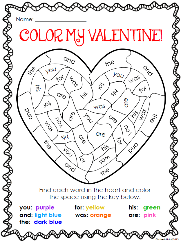 a valentine's day coloring page activity   kinder abc