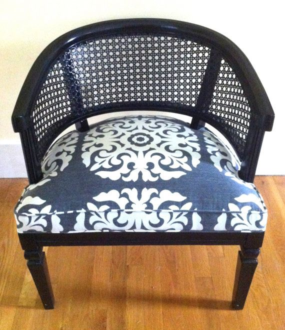 Reserved For Christine The Kohl Chair A Black Caned Barrel