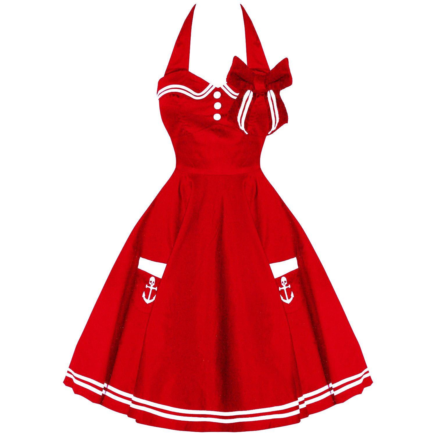 Or a red sailor dress. Love it.  HELL BUNNY MOTLEY  RED VINTAGE 50S RETRO NAUTICAL SAILOR ROCKABILLY PINUP DRESS