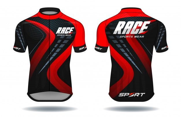 Download Long Sleeve T Shirt Design Template Uniform Front And Back View Vector Premium Download In 2020 Cycling Jerseys Cycling Jersey Design Sports Jersey Design