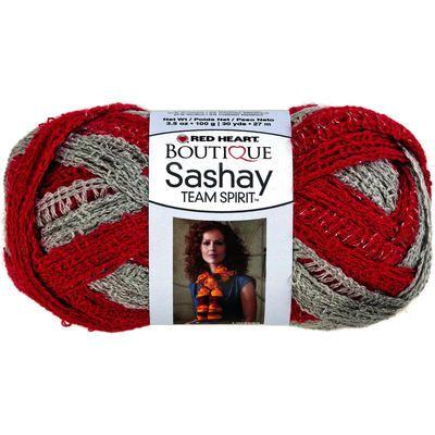 Red+Heart+Boutique+Sashay+Team+Spirit+Yarn-Red/Grey | Craft