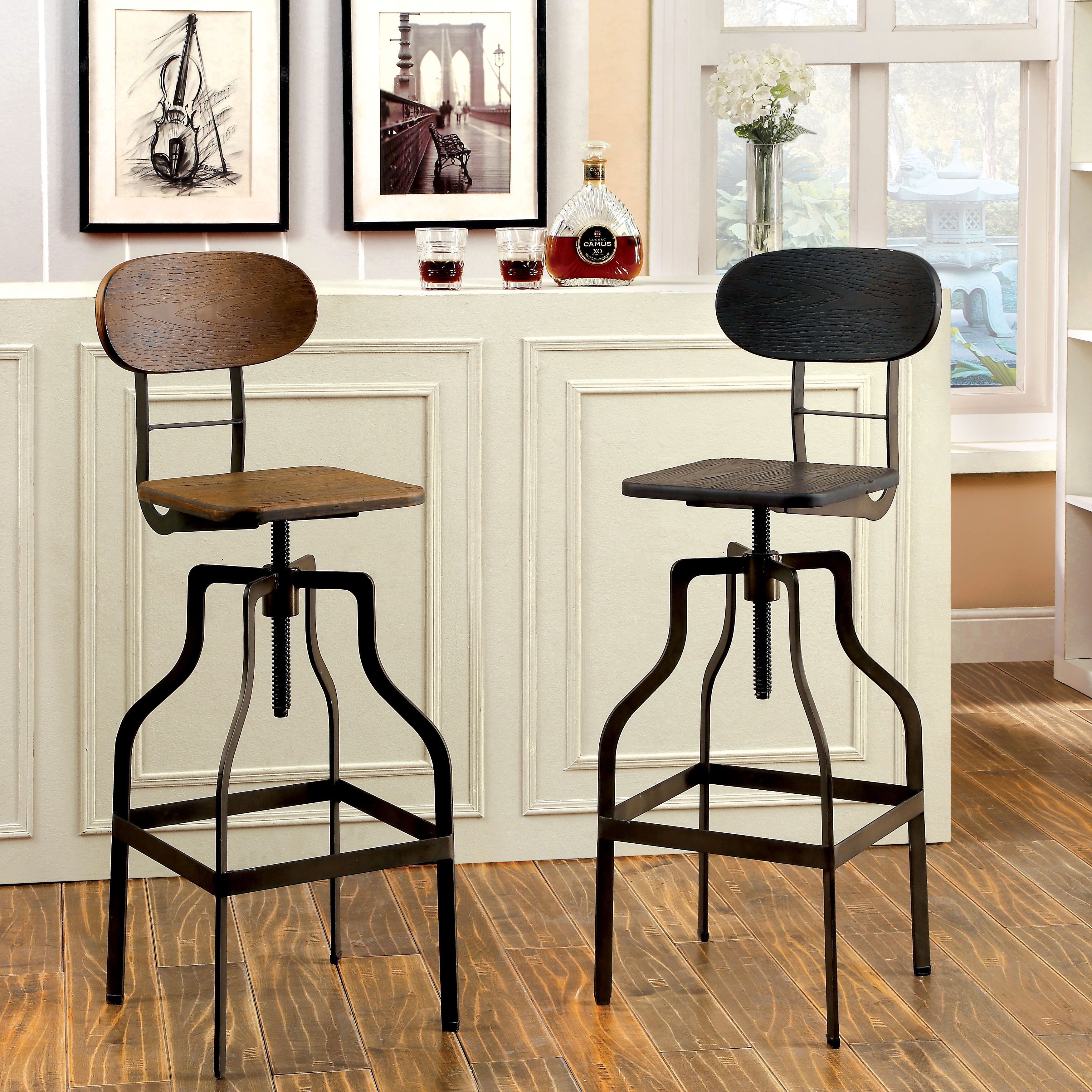Place This Industrial Style Bar Chair In Any Setting And