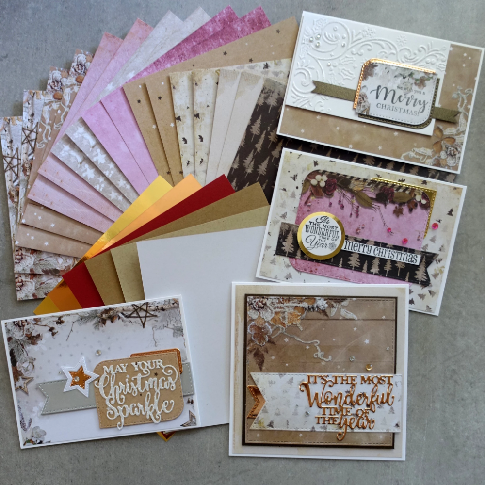 Christmas cardmaking 6 x 6 paper pack 170 gsm