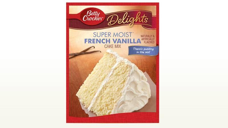 French vanilla cherry chip cake cake mix vanilla cake