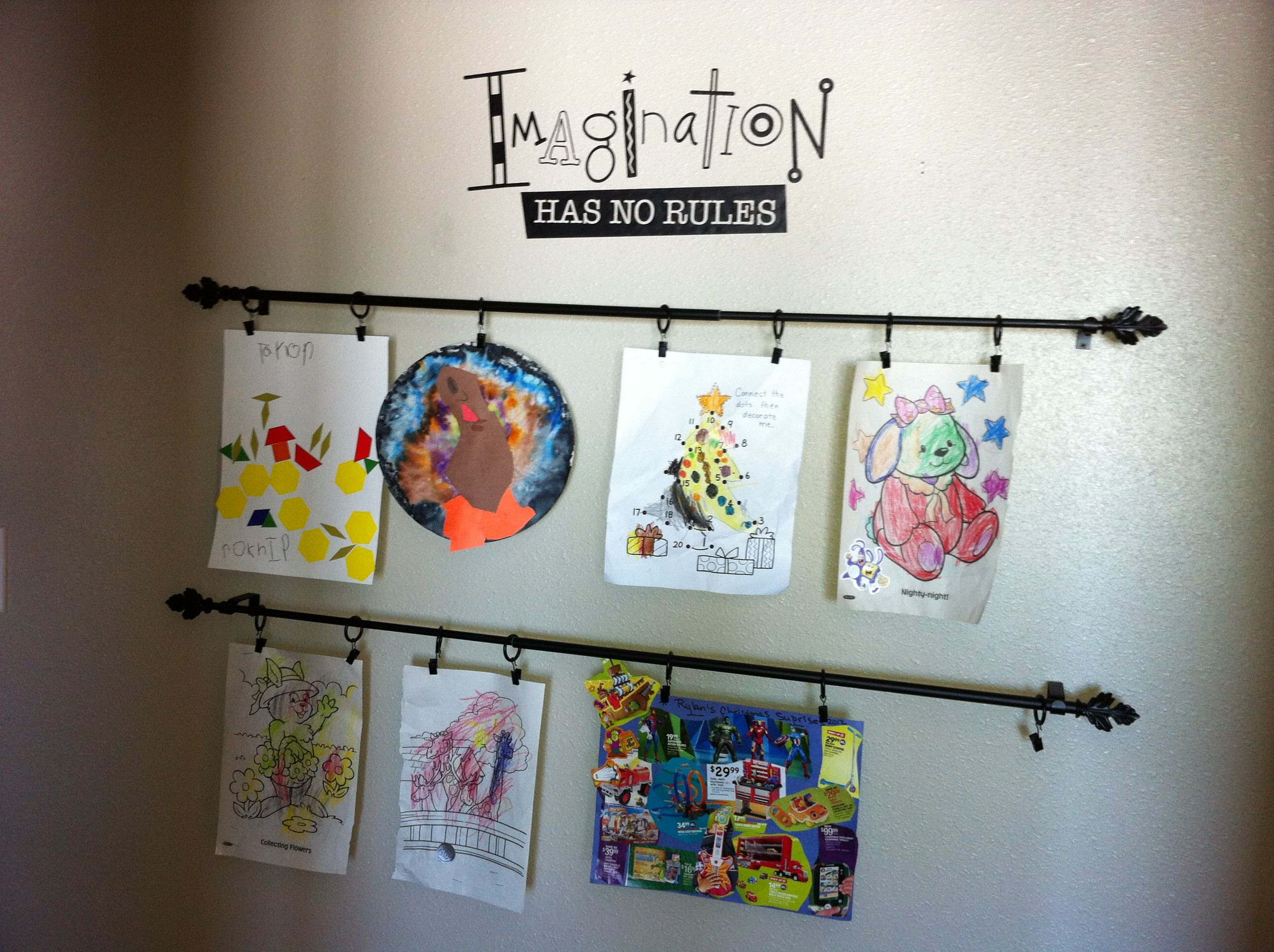 Display Children' Art Decor In 2019 Displaying Kids