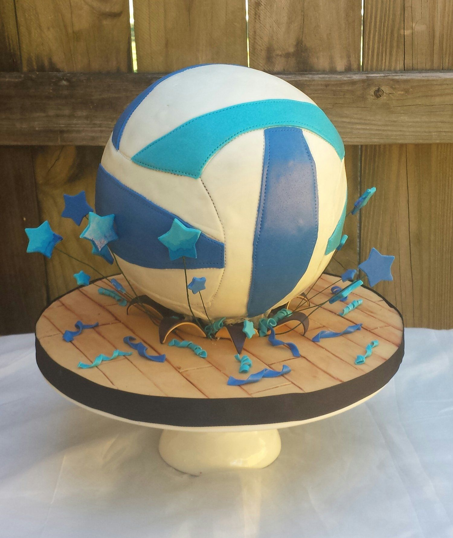 Volleyball Fondant Cake Volleyball Cakes Volleyball Birthday Cakes Celebration Cakes