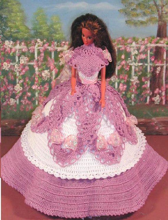 Crochet Fashion Doll Barbie Pattern- #441 ANTEBELLUM LACE #2 ...