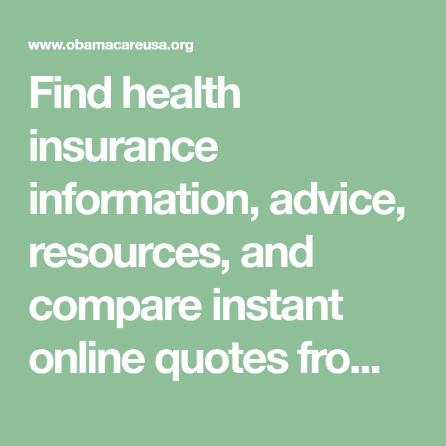 Find health insurance information, advice, resources, and ...