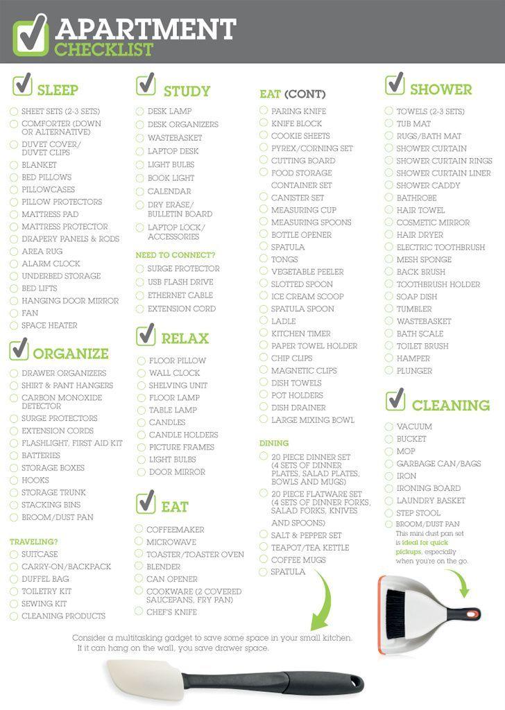 Apartment Checklist College