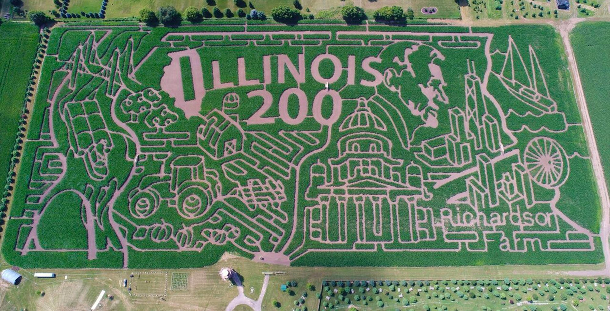 Explore our huge 2018 corn maze as we celebrate all that