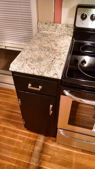 Hampton Bay Valencia 48 In Laminate Countertop In Typhoon Ice 495252v4 At The Home Depot Mobile Laminate Countertops Countertops Kitchen Concepts
