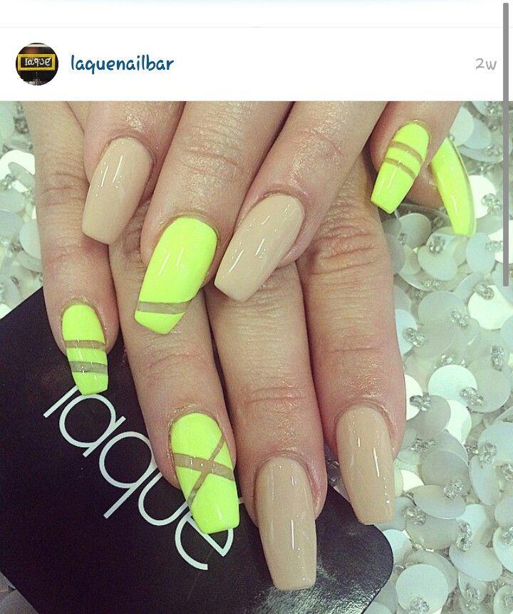 Neon and nude. | Nails | Pinterest | Neon and Nail nail