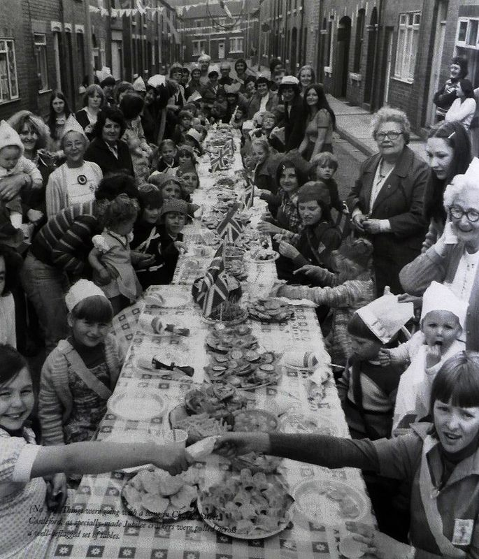 Silver Jubilee celebrations at Moorhouse Avenue, Stanley, Wakefield, West Yorkshire, 1977