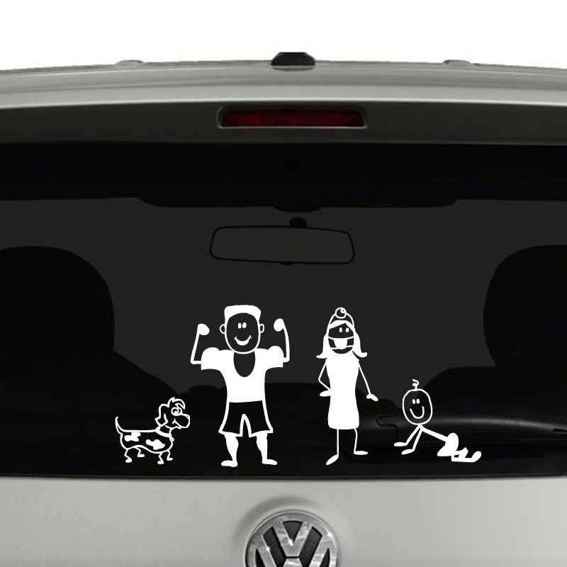 Stick figure family create your own vinyl decal sticker car window