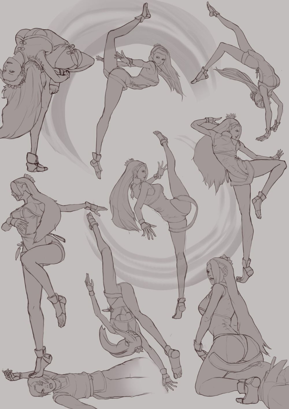 Art Of Lec Luong Kof Poses In 2020 Anime Poses Reference Art Reference Poses Sketch Poses