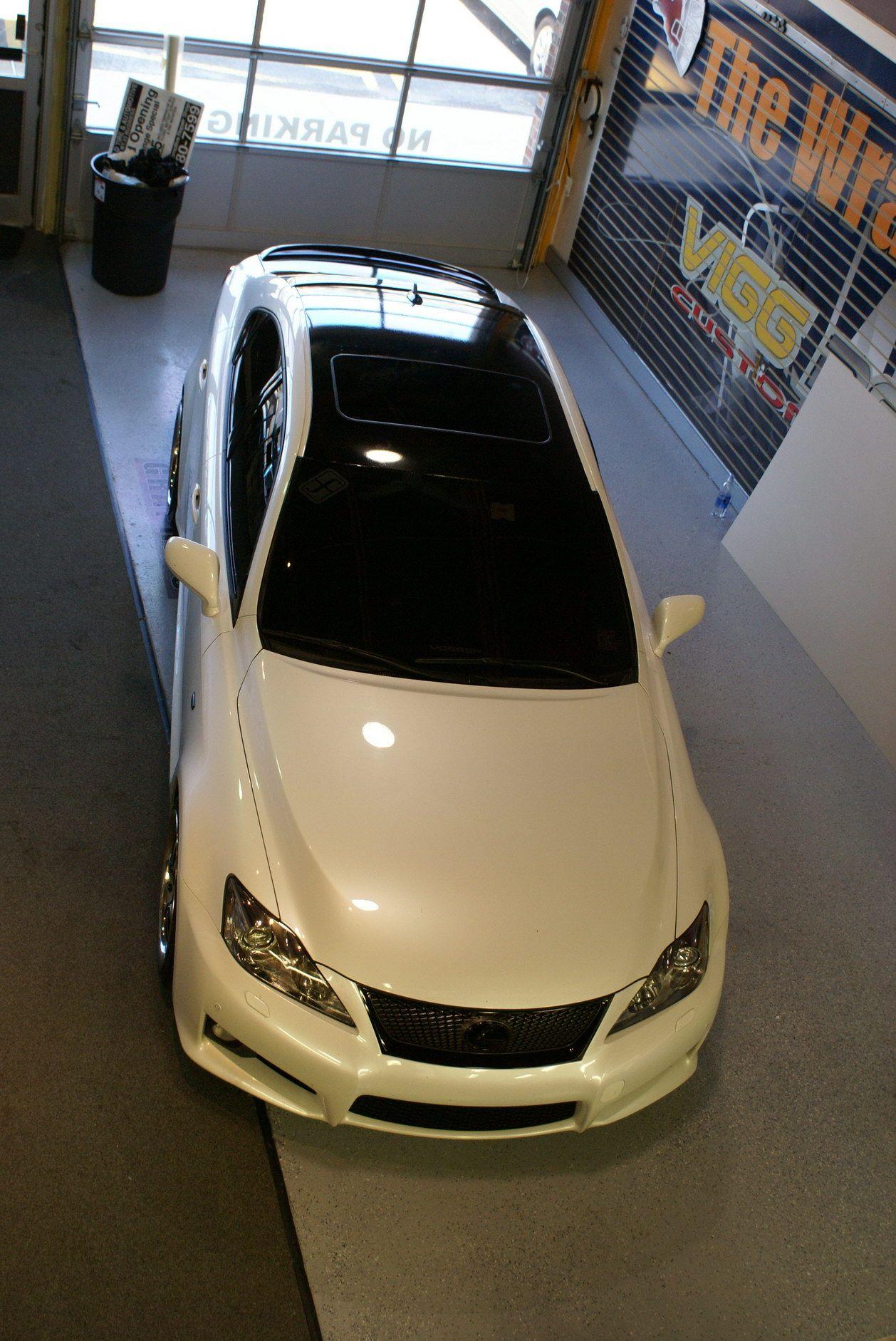 White Lexus Gloss Black Wrap Cars Dream White Lexus